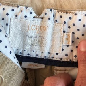 J. Crew Shorts - J. Crew Women's City Fit Chino Khaki Shorts